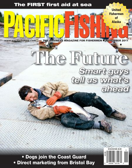 Eyes on the prize fish wine ski for Pacific fishing magazine